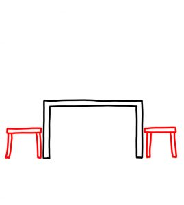 How to Doodle Dining Table and Chairs 02