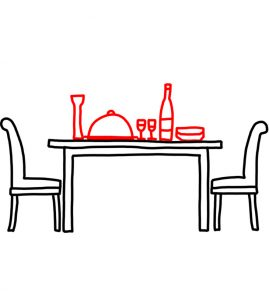 How to Doodle a Dining Table and Chairs