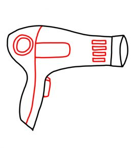 How to Doodle Hairdryer 03