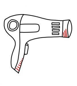 How to Doodle a Hairdryer