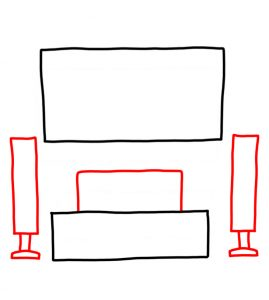 How to Doodle Home Entertainment System 02