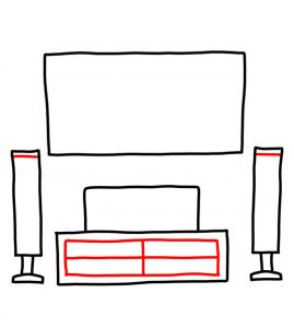 How to Doodle Home Entertainment System 03
