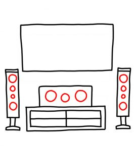 How to Doodle a Home Entertainment System
