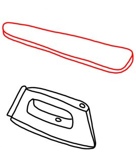 How to Doodle Iron and Ironing Board 03