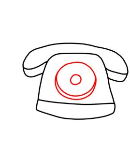 How to Doodle Old Telephone 03