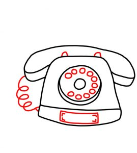 How to Doodle a Old Telephone