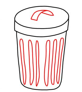How to Doodle a Rubbish Bin