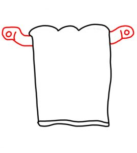 How to Doodle Towel hanging on a rack 02