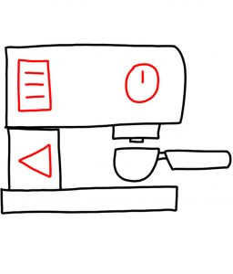 how to doodle Coffee machine 03
