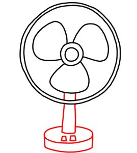 how to doodle Desk Fan 03