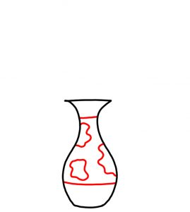 how to doodle Flower in Vase 02