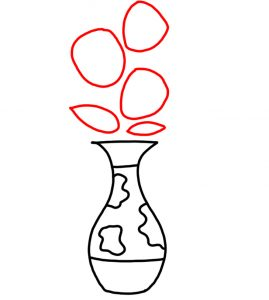 how to doodle Flower in Vase 03