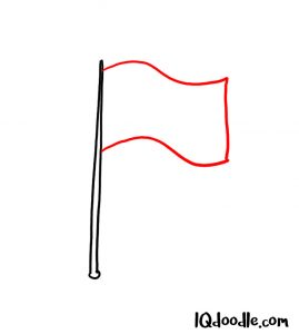 how to draw flag