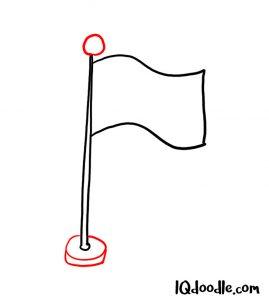 doodling flag