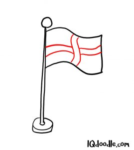 how to doodle a flag