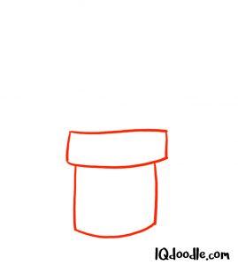 drawing a pot plant