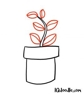 doodling a pot plant
