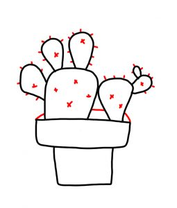 how to doodle cactus 03