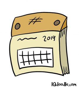how to doodle callendar