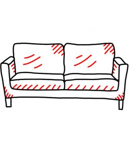 how to doodle a couch