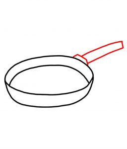 how to doodle frying pan 02