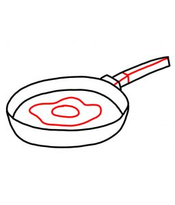 how to doodle frying pan 03
