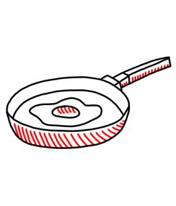 how to doodle a frying pan
