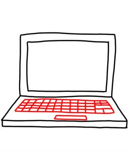 how to doodle laptop 03