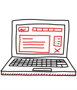 how to doodle a laptop