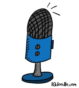 how to doodle microphone