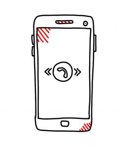 how to doodle a mobile phone