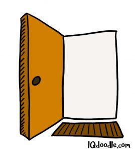 how to doodle open door