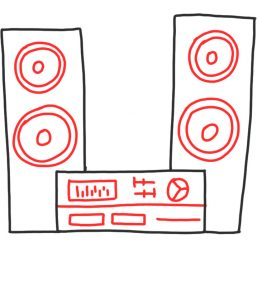 how to doodle stereo system 02