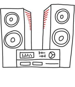 how to doodle a stereo system