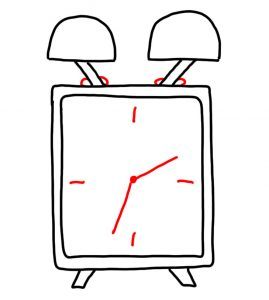 how to drawa clock