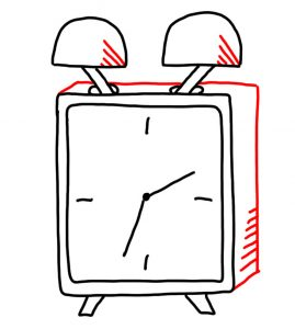 how to draw clock