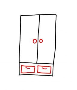 how to draw wardrobe