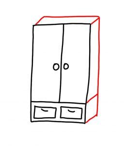 how_to_draw_wardrobe