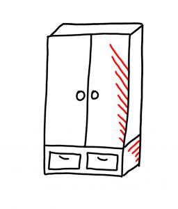 how to draw wardrobe 04