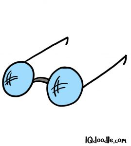 how to doodle glasses