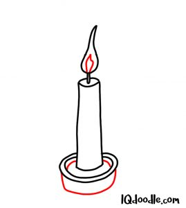 doodling a candle