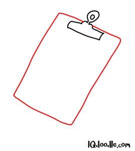 draw a clipboard