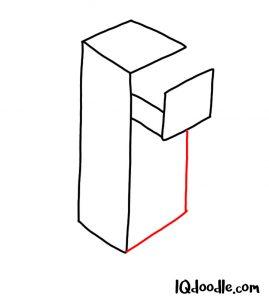 doodling a file cabinet