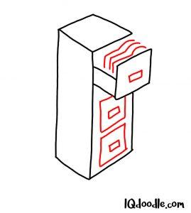 doodle a file cabinet