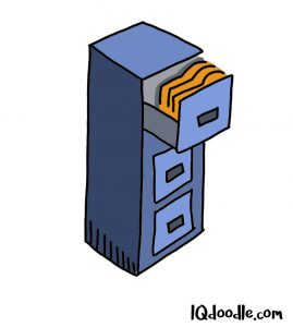 how to doodle a file cabinet
