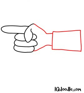 doodle a finger pointing