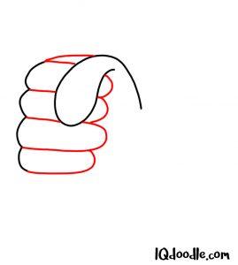 doodling a fist