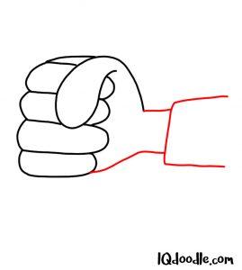 doodle a fist