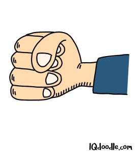 how to doodle a fist