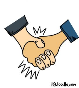 how to doodle a handshake
